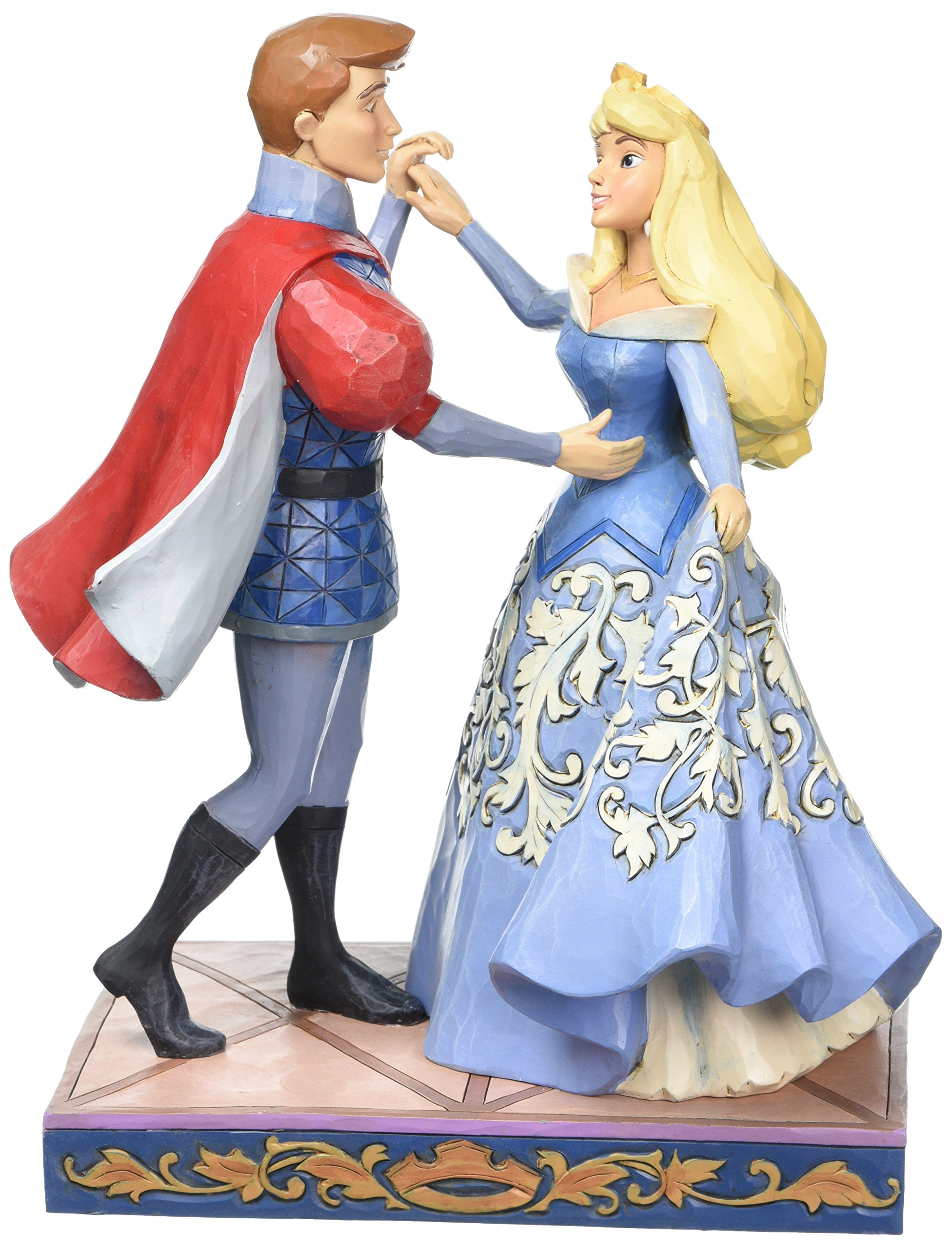 Disney Traditions Swept Up in The Moment Aurora and Prince Figurine, Resin, Multi-Colour, 115 x 165 x 230 cm