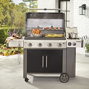 Weber 67014001 Genesis II LX E-440 Natural Gas Grill, Black