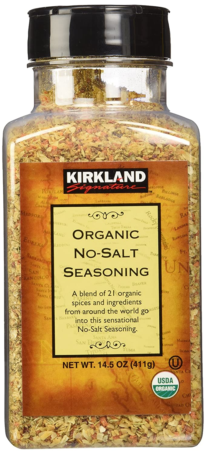Kirkland Signature Organic No-Salt Seasoning, 14.5 Ounce : Mixed Spices And Seasonings : Grocery & Gourmet Food