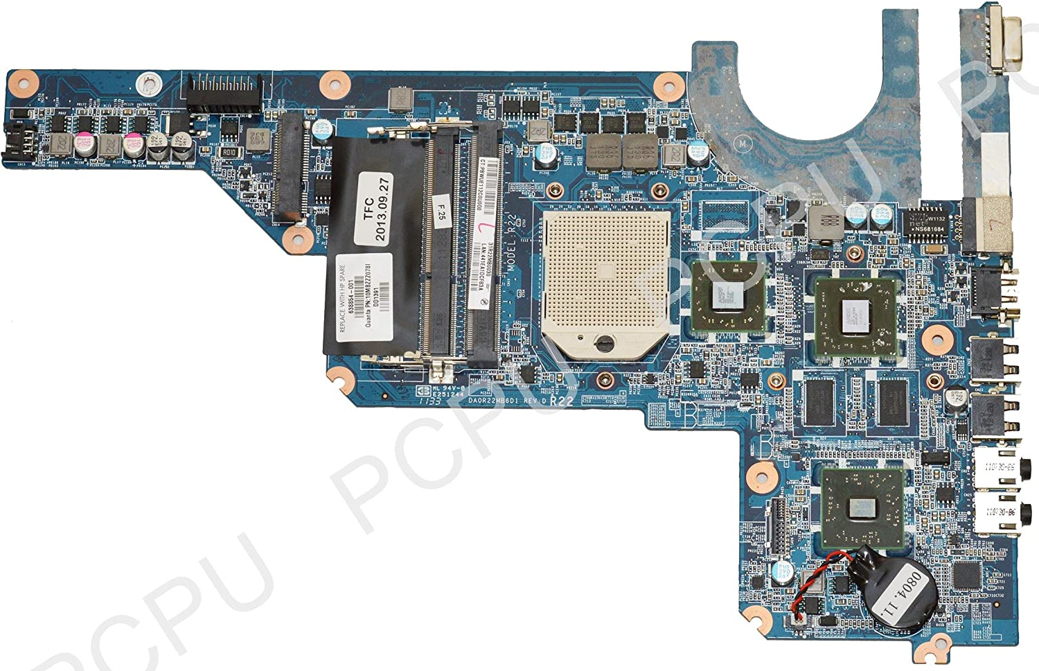 HP 638854-001 G4 G6 G7 AMD Laptop Motherboard s1