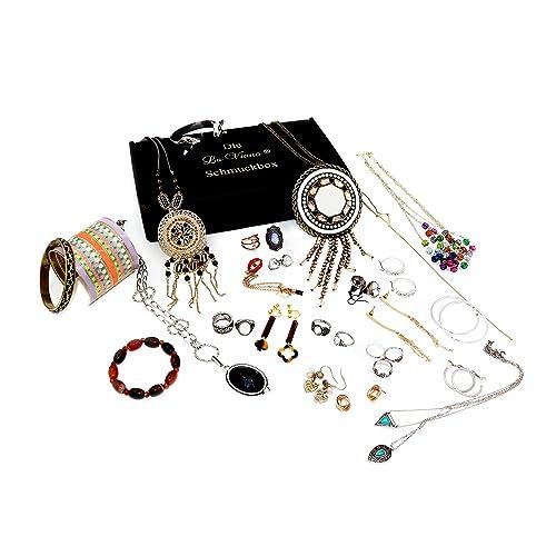 Die La Viano® Schmuck-Box Schmuck-Set Modeschmuck Überraschungspaket 20-25 Schmuckstücke Halskette A...