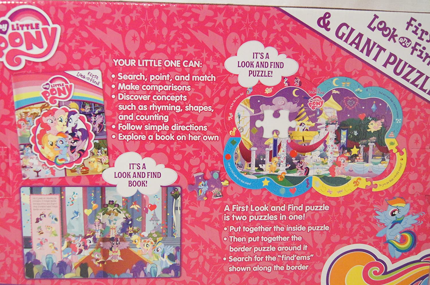 my little pony first look and find book and giant puzzle puzzles