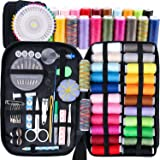 GeMoor Sewing Kit Over 145 Sewing Accessories, Mini Sewing Kits for Traveller - Beginners - DIY - Emergency, 24 No Random Spools of Thread, Tape Measure for Beginners Mending & Sewing Needs
