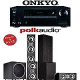 Polk Audio TSi 500 5.1-Ch Home Theater System with Onkyo TX-NR656 7.2-Ch Network AV Receiver