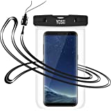 Universal Waterproof Case, YOSH Cell Phone Dry Bag Pouch for Apple Touch ID iPhone 7 &7 Plus, 6, 6s plus, 5s, BLU, Samsung Galaxy Note 8, S8+, S8, S7, S6, Pixel, Moto, up to 6.3 inches (Transparent)