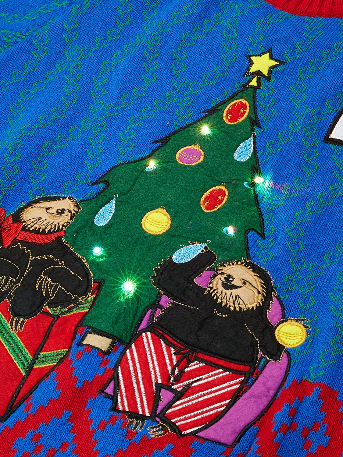 Blizzard Bay Mens a Sloths Christmas Light up Ugly Christmas Sweater