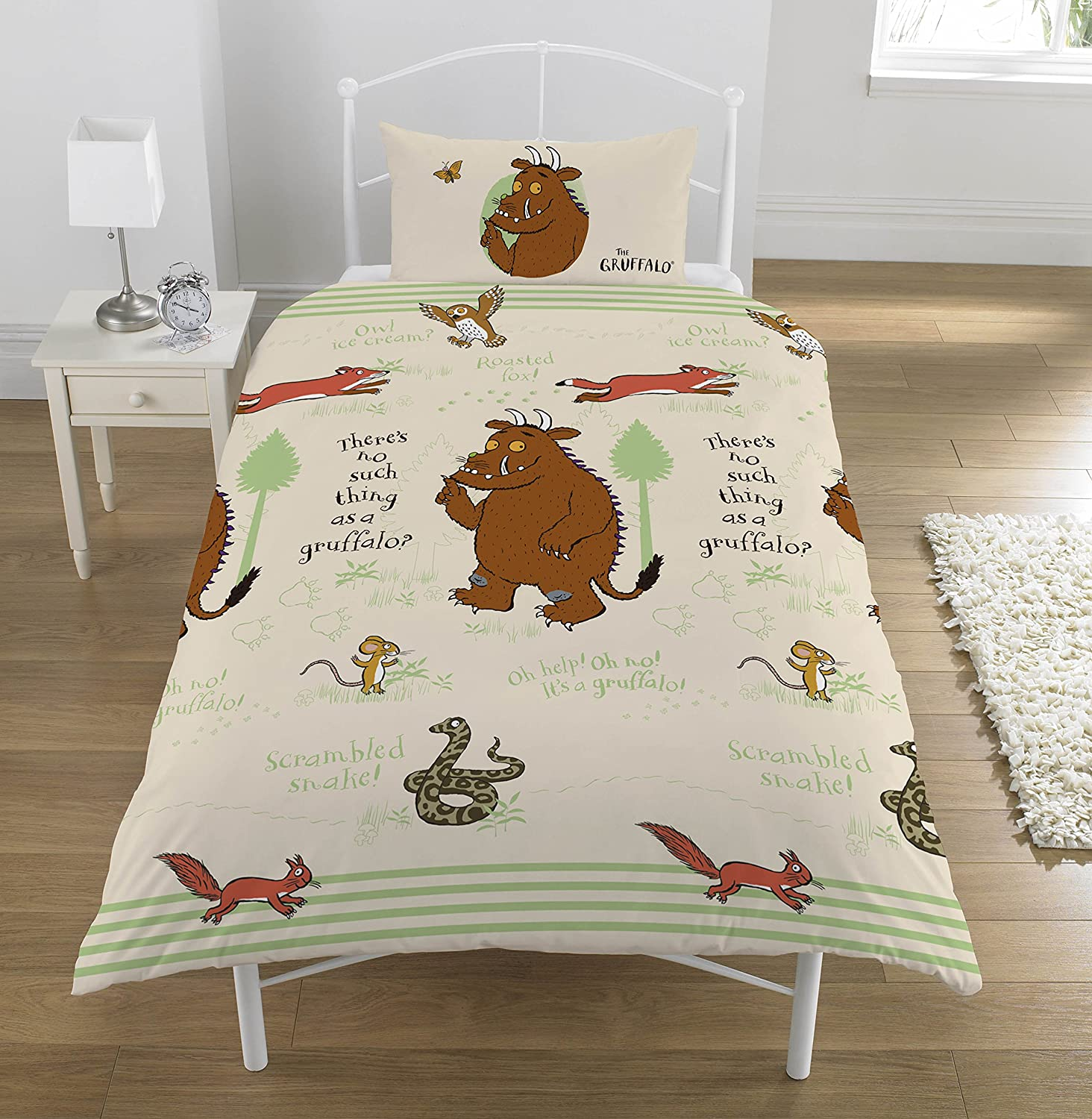 The Gruffalo 'Woodland' Junior Duvet Set, Cotton, Multi Dreamtex Ltd JR3-GRU-WLS-12