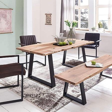 Table De Salle A Manger Design Gaya En Bois Massif Acacia 160 X 80
