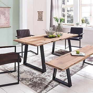 Wohnling Esszimmer Tisch Gaya Baumstamm Massivholz Akazie 160 X 76 X