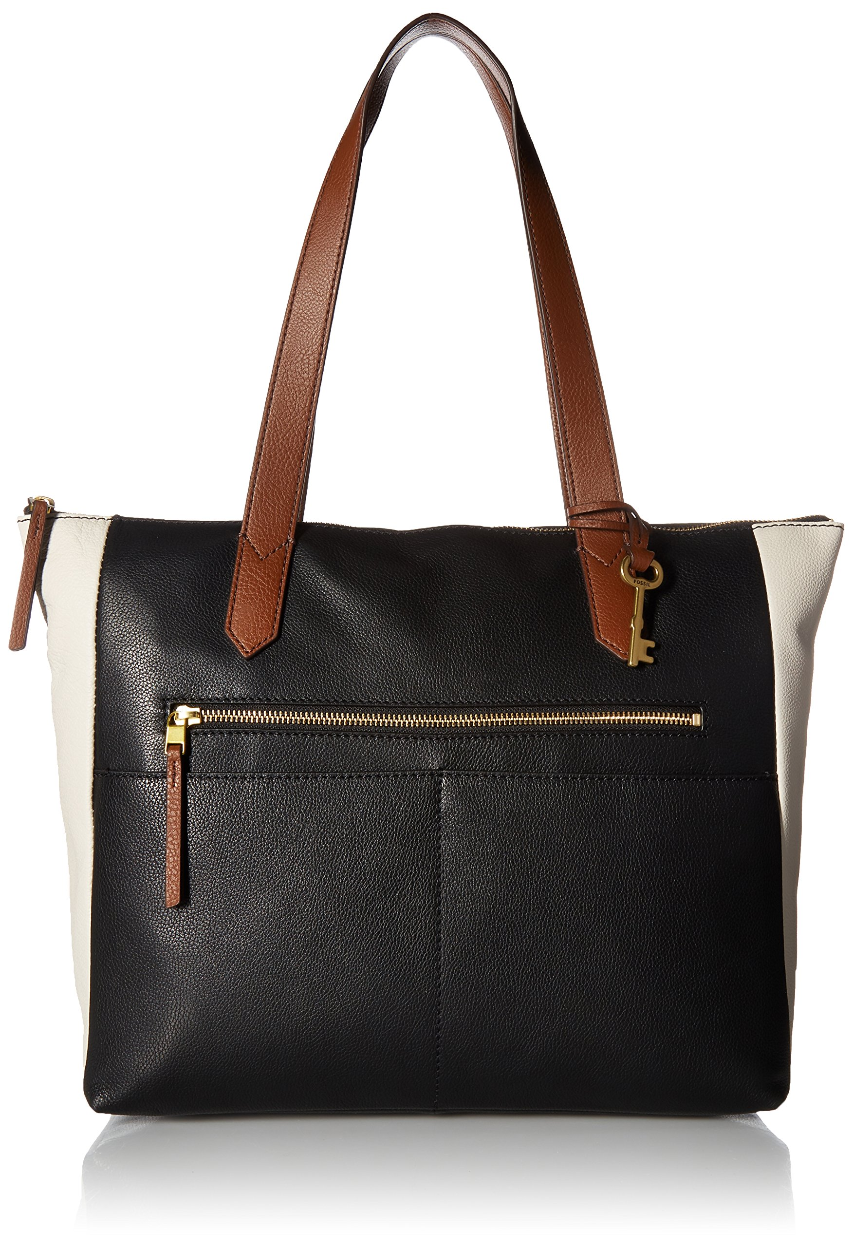 Fossil Fiona E/W Tote Bag, Black/White by Fossil (Image #1)
