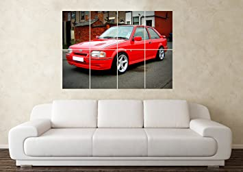 Tamaño grande Ford Escort RS Turbo Cosworth para el coche Póster diseño de: Amazon.es: Hogar