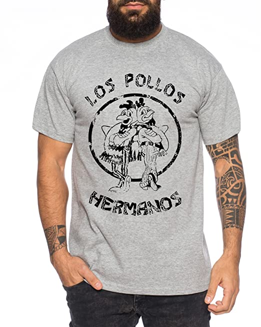 350f76451 Used Look Los Pollos Heisenberg Camiseta de Hombre Hermanos Bad Mr White  Breaking  Amazon.es  Ropa y accesorios