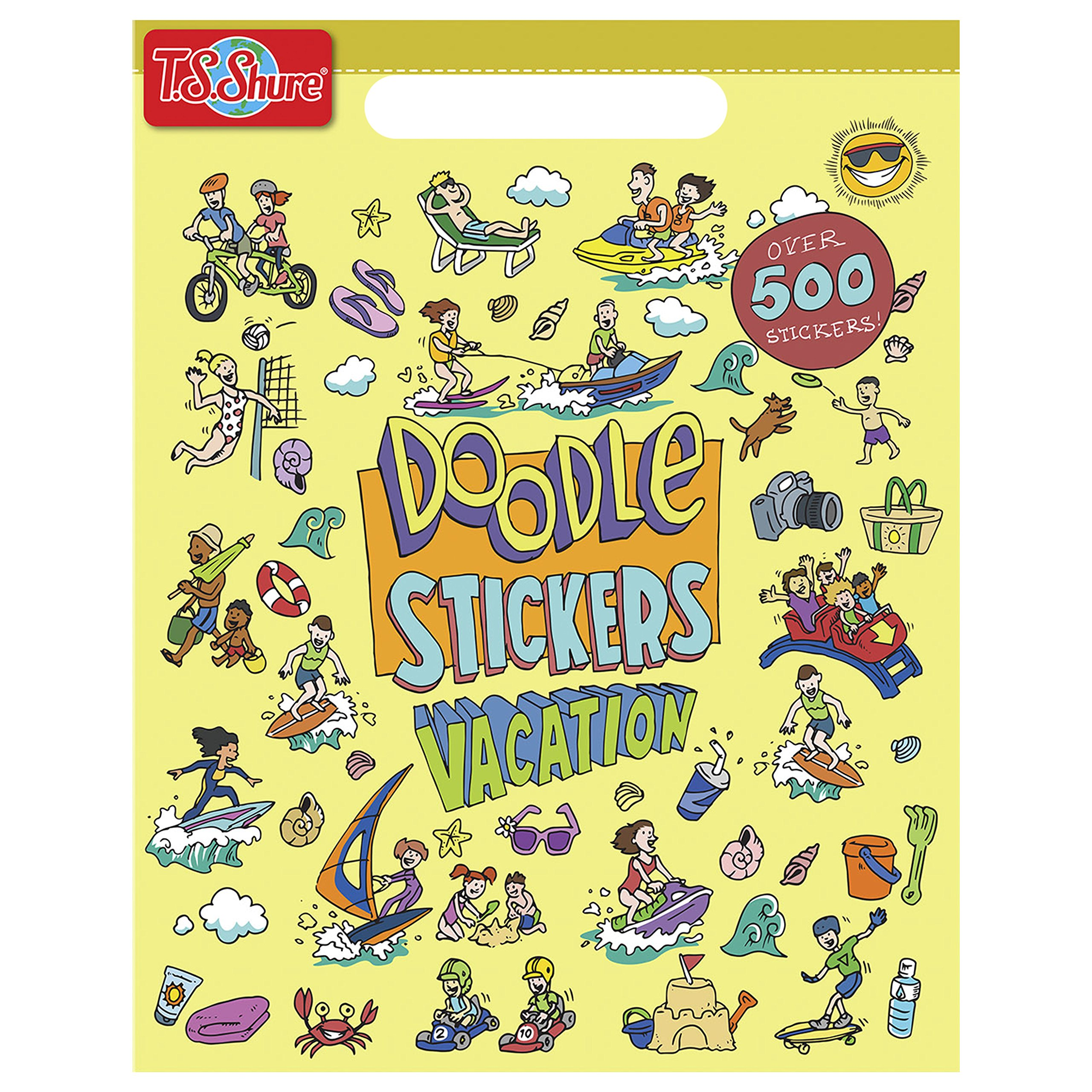T.S. Shure Doodle Vacation Sticker Book