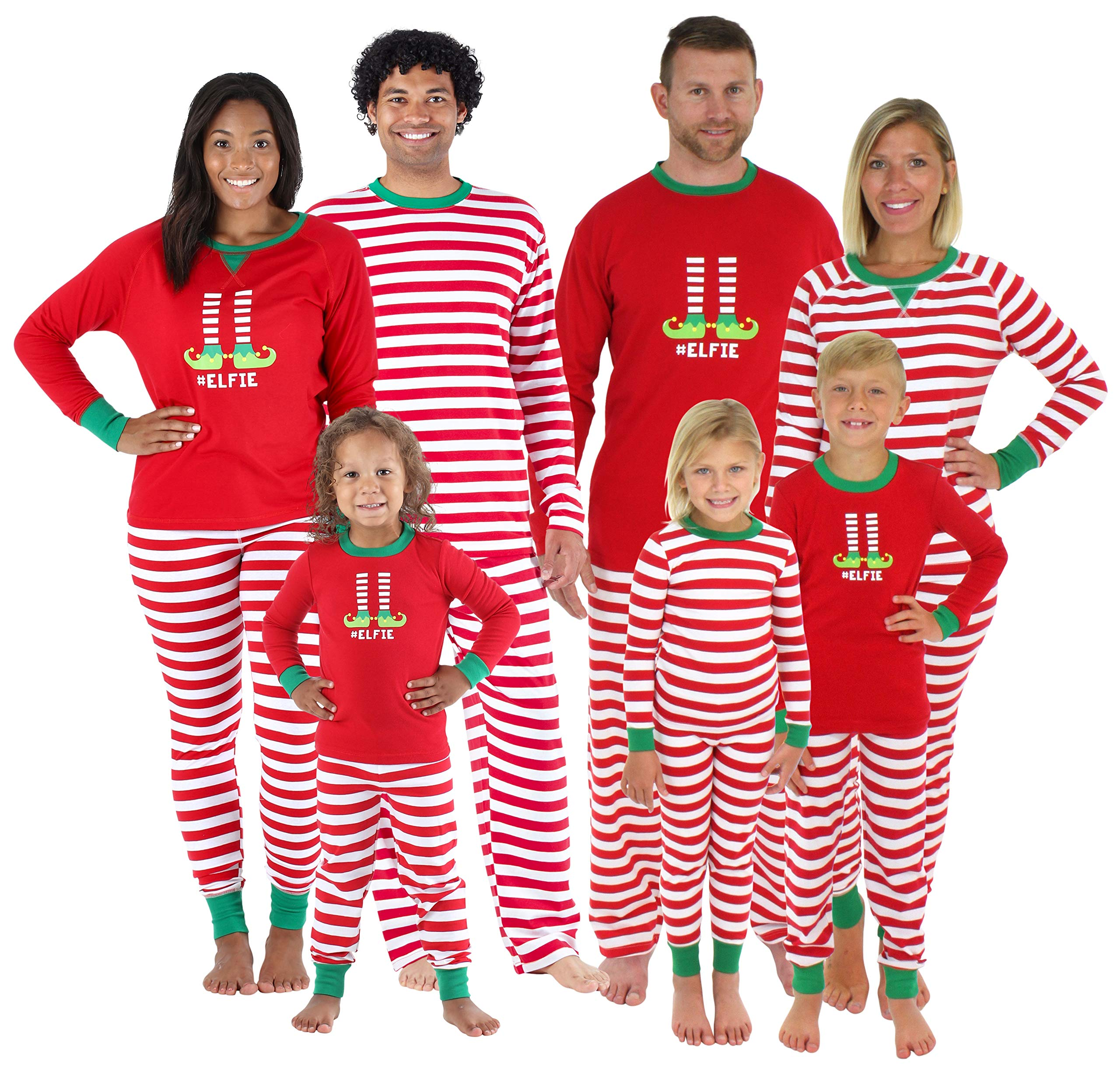 2015d25449 Sleepyheads Christmas Family Matching Red Striped Elf Pajama PJ Sets ...