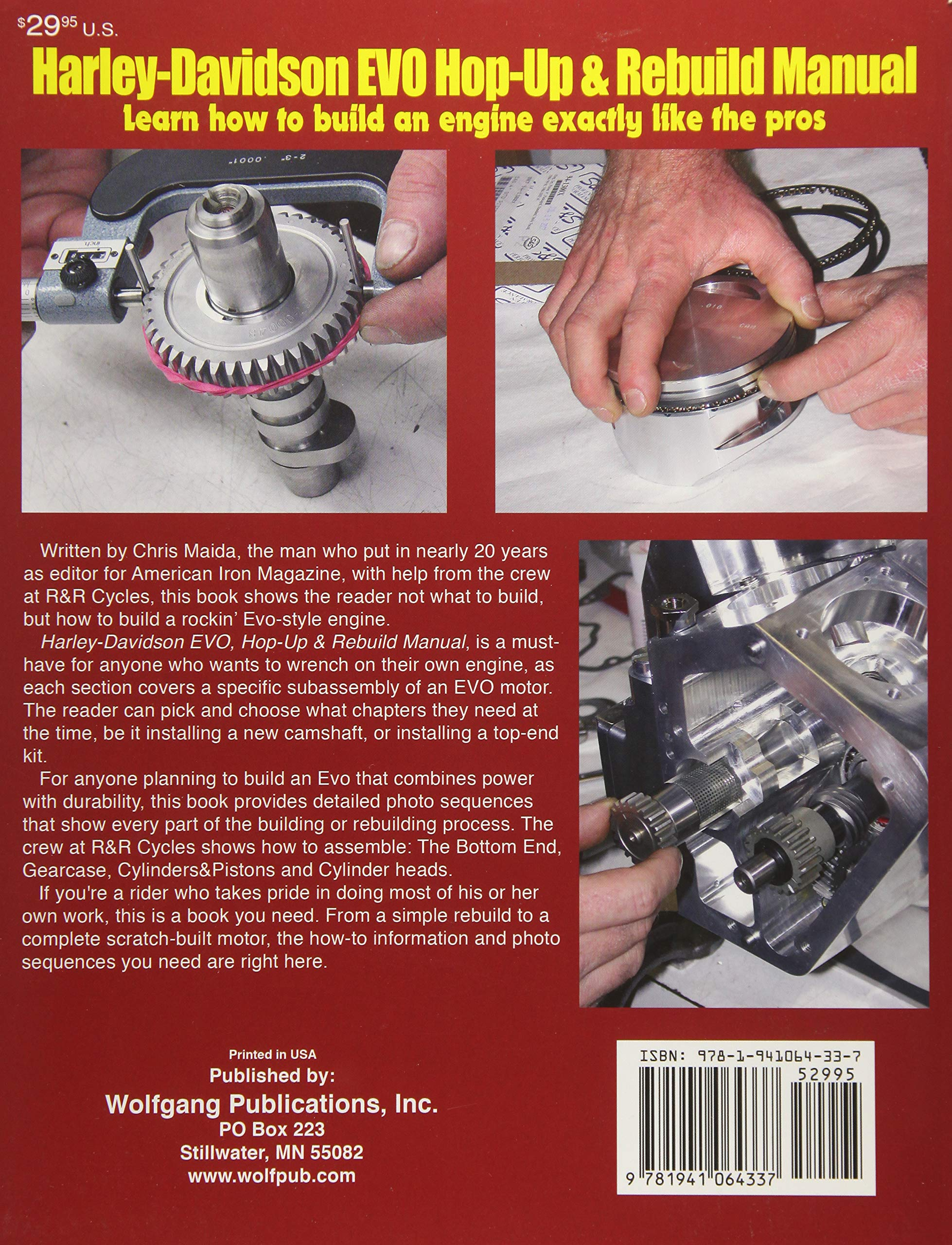 Harley-Davidson EVO: Hop-Up & Rebuild Manual: Chris Maida: 9781941064337:  Amazon.com: Books