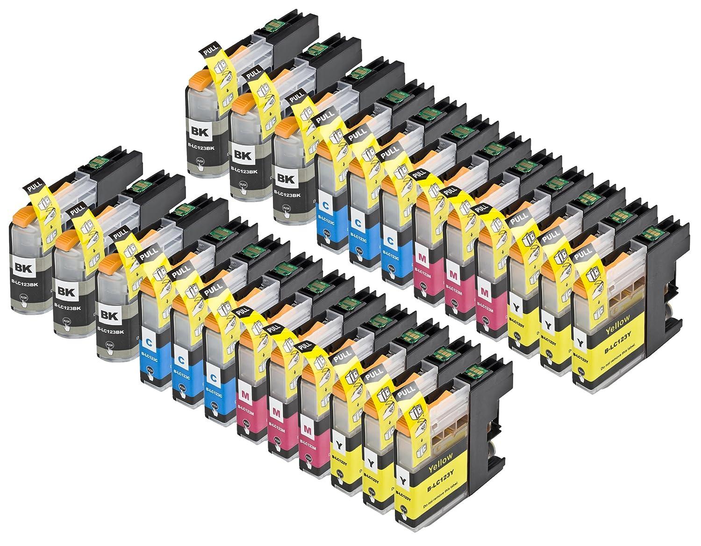 24 Multipack de alta capacidad Brother LC123 Cartuchos Compatibles ...