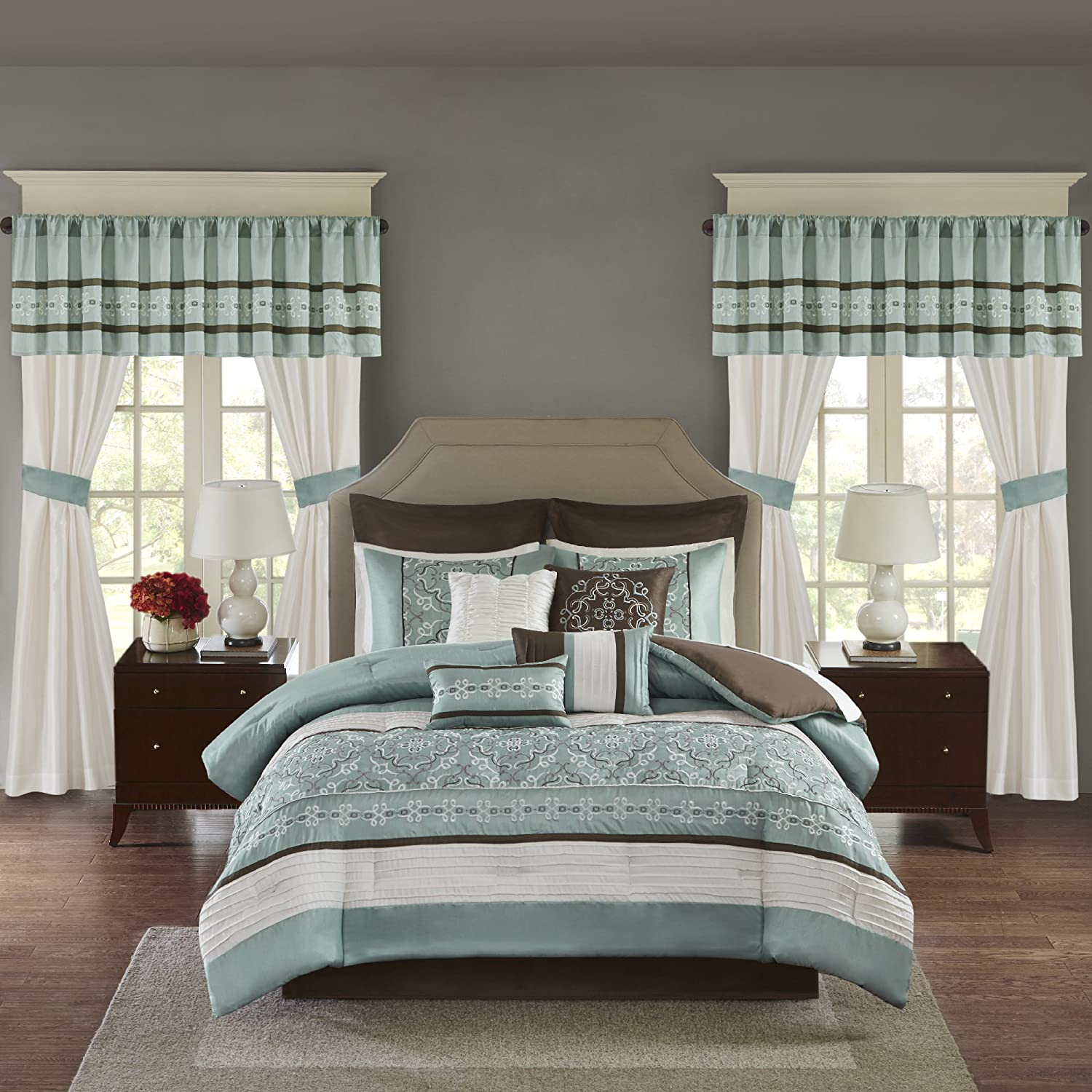 madison park essentials jelena cal king size bed comforter set room rh amazon in