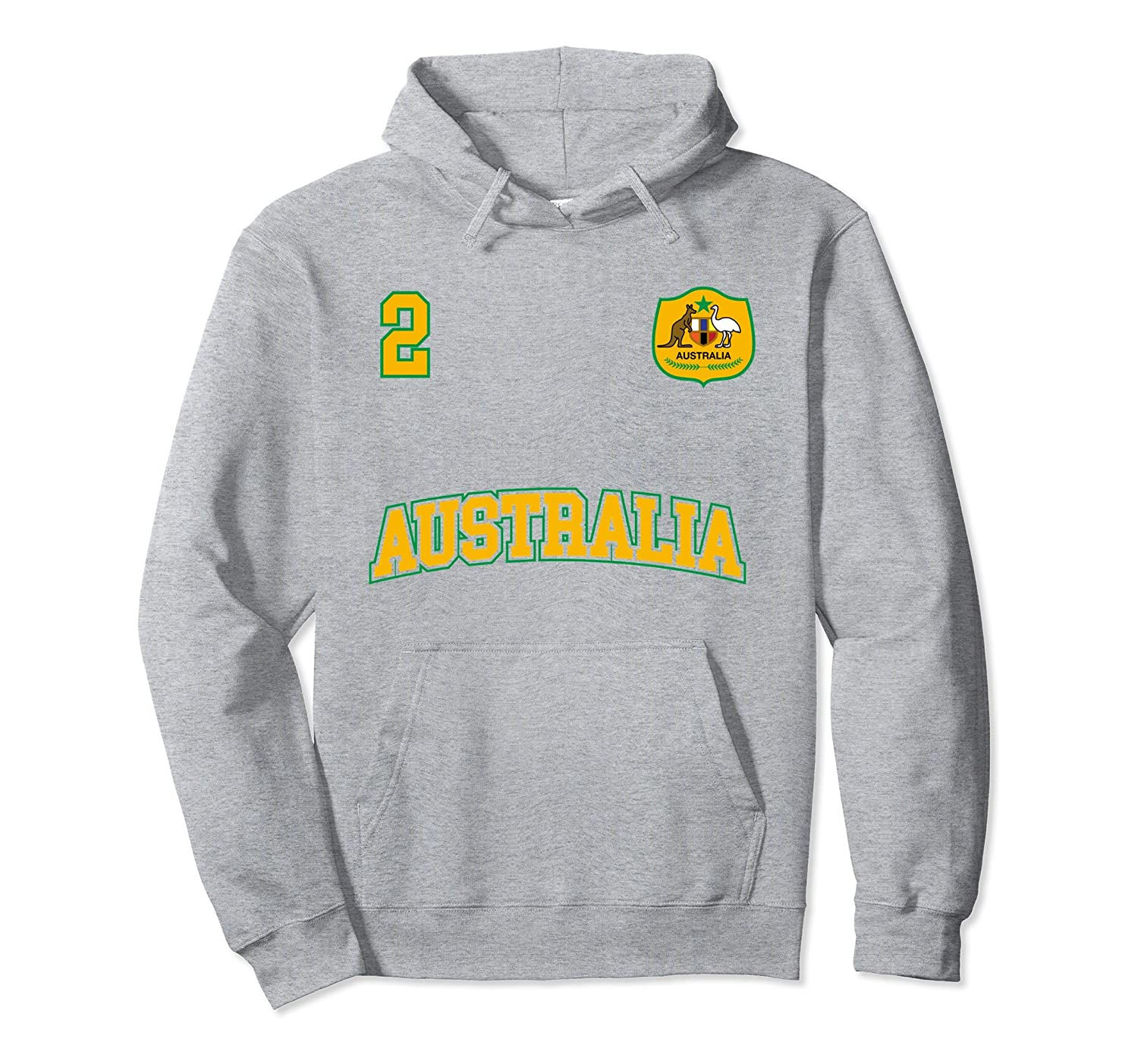 Australia Soccer Hoodie No. 2 Australian Flag Sports Team-ah my shirt one  gift 06ff1effc