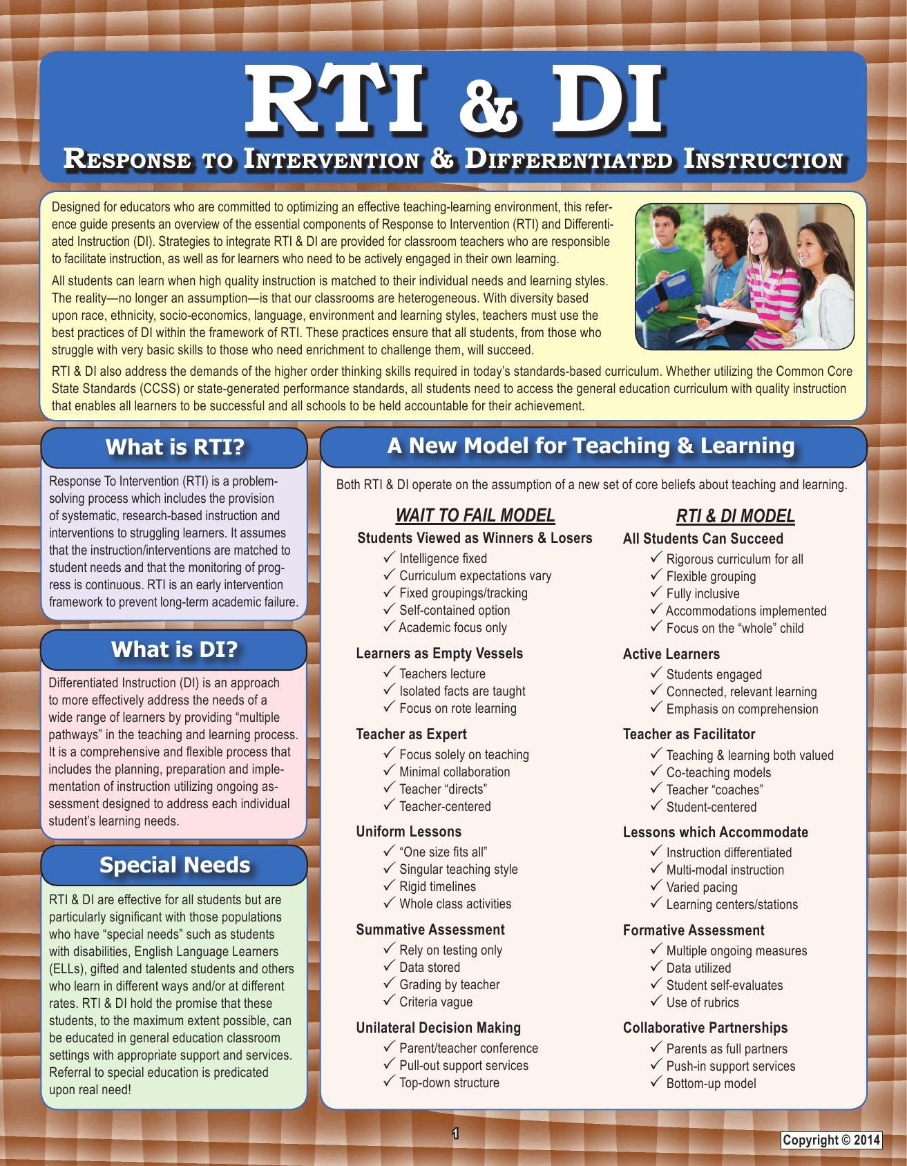Rti Di Response To Intervention Differentiated Instruction