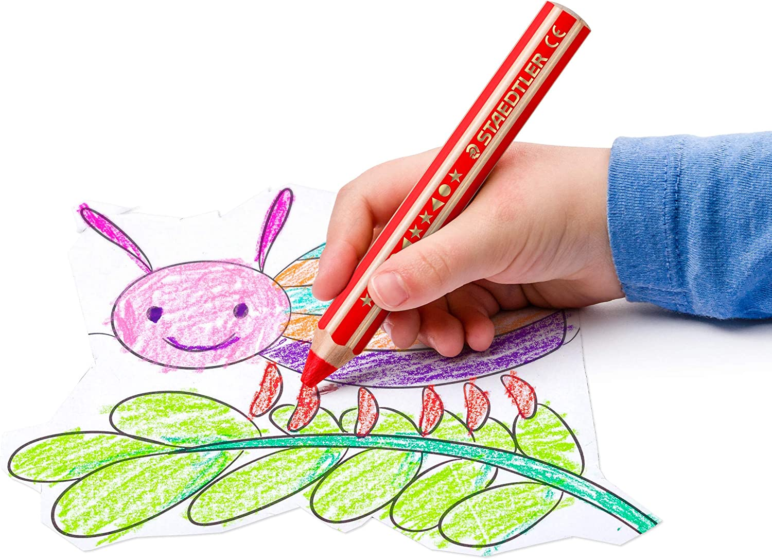 Staedtler 3 in 1 Buddy Colouring Pencil Colouring Wax Crayons Watercolour Pencil Extra Shatterproof Perfect for Children Many Surfaces Claspack with 36 Pens 140 C36