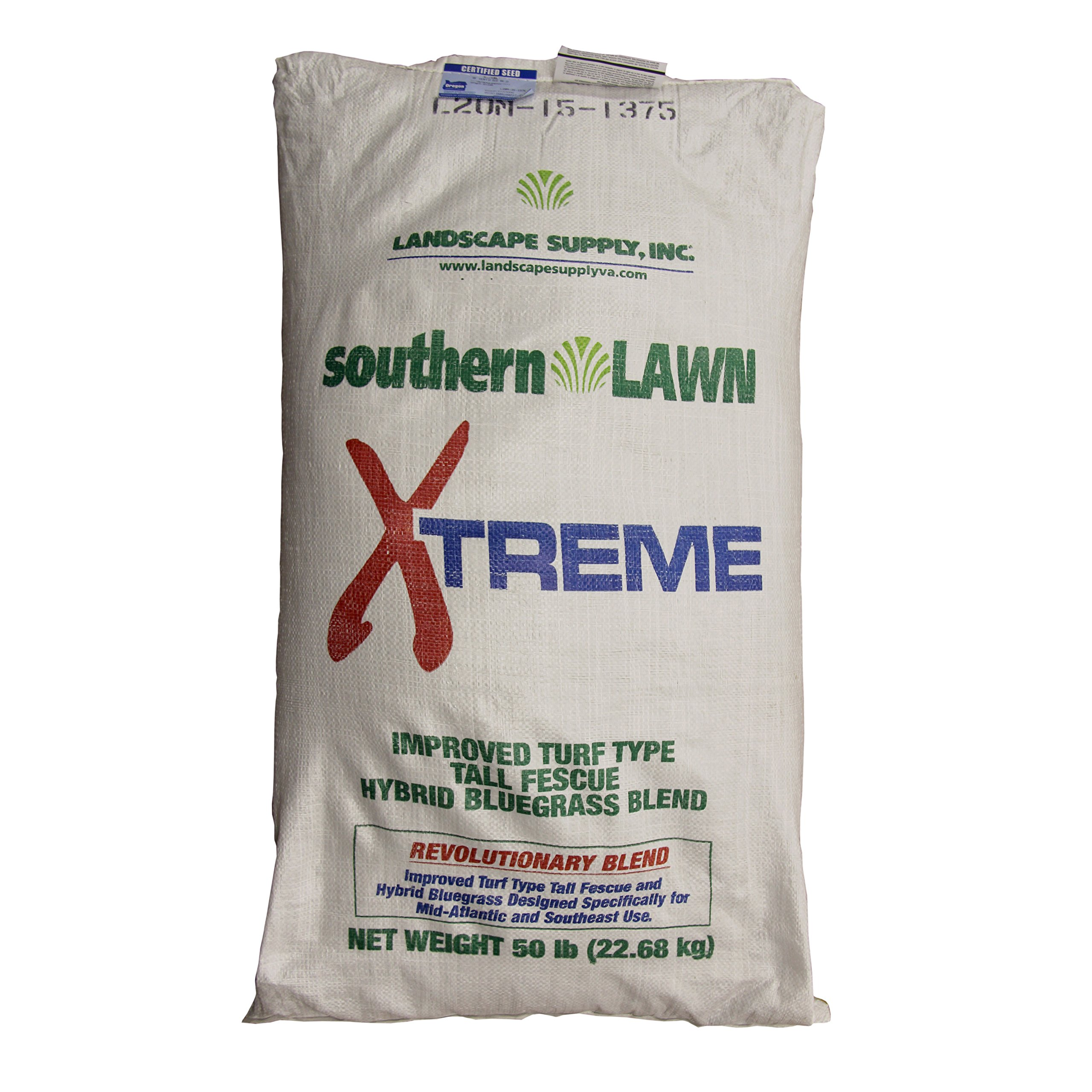 southernLAWN XTREME Premium Blue Tag Certified Turf Type Tall Fescue, 50 Pound Bag