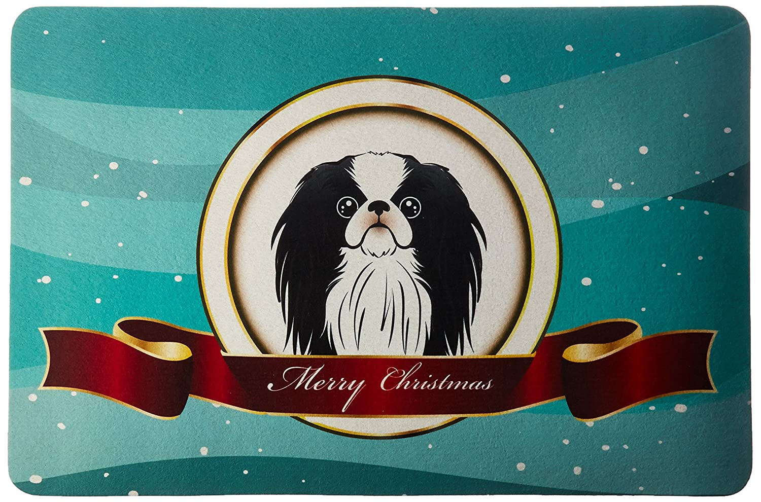 Multicolor Carolines Treasures Bb1540cmt Japanese Chin Merry Christmas Kitchen Or Bath Mat 20x30 20h X 30w Home Kitchen Kitchen Accessories
