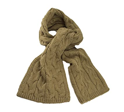 c73065fe7c Michael Kors Cable Knit Muffler (Camel) at Amazon Women s Clothing ...