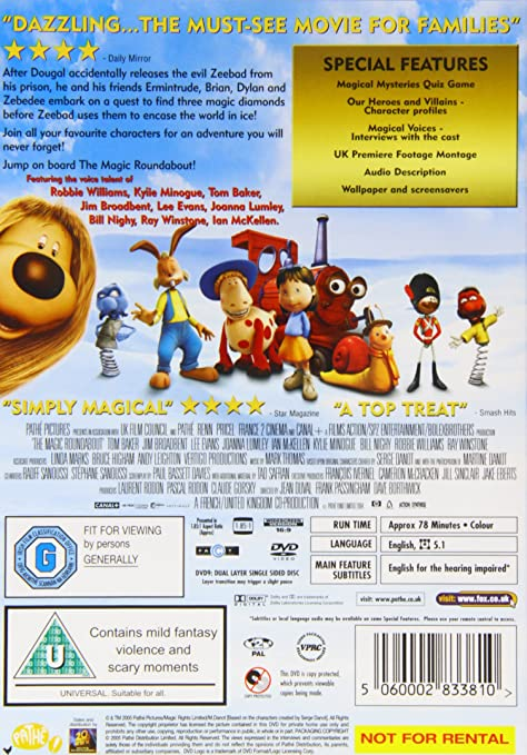 magic roundabout dvd 2004 amazoncouk dave borthwick jean duval frank passingham claude gorsky andy leighton laurent rodon paul bassett
