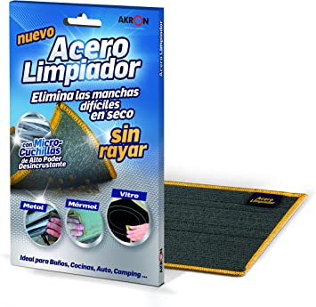 BARLESA Acero Limpiador INOX Elimina Las Manchas difíciles en seco ...