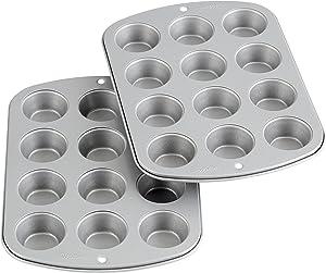 Wilton Recipe Right Non-Stick Mini-Muffin Pan, 12-Cup (2-Pack)