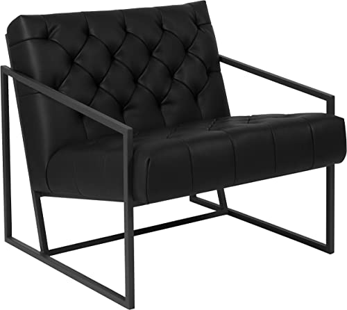 Flash Furniture HERCULES Madison Series Black LeatherSoft Tufted Lounge Chair
