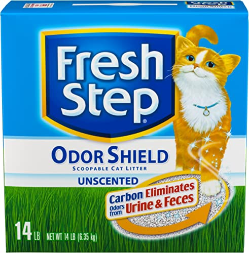 Fresh Step Odor Shield Unscented, 14-Pound Boxes Pack of 3