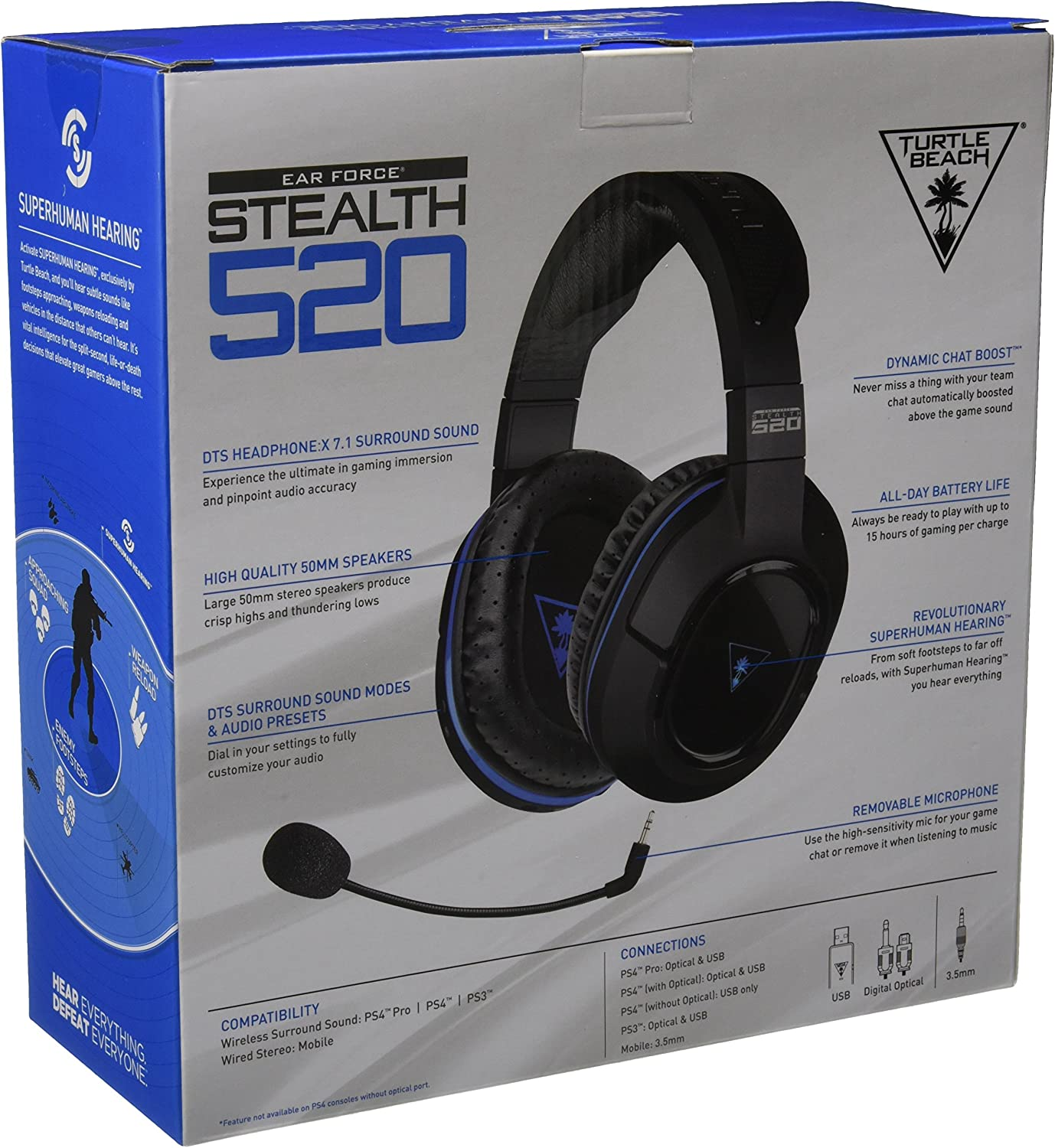 Turtle Beach Stealth 520 Premium Fully Wireless Gaming Usb Headphone Wiring Diagram Headset Ps4 Pro Ps3 Discontinued By Manufacturer Video Games
