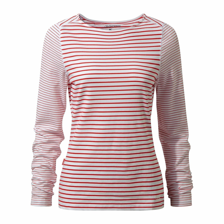 Longlseeve mit Schutz vor M/ücken Craghoppers NosiLife Erin Langarm Top Stripe Women