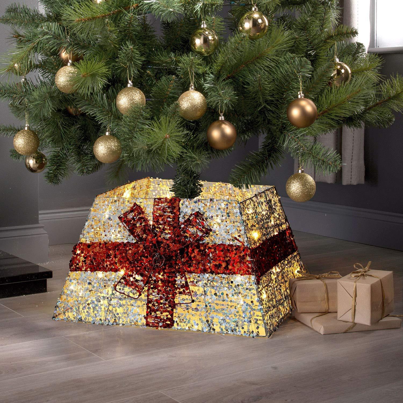 Greenfields - Falda de Mimbre para árbol de Navidad: Amazon.es: Hogar