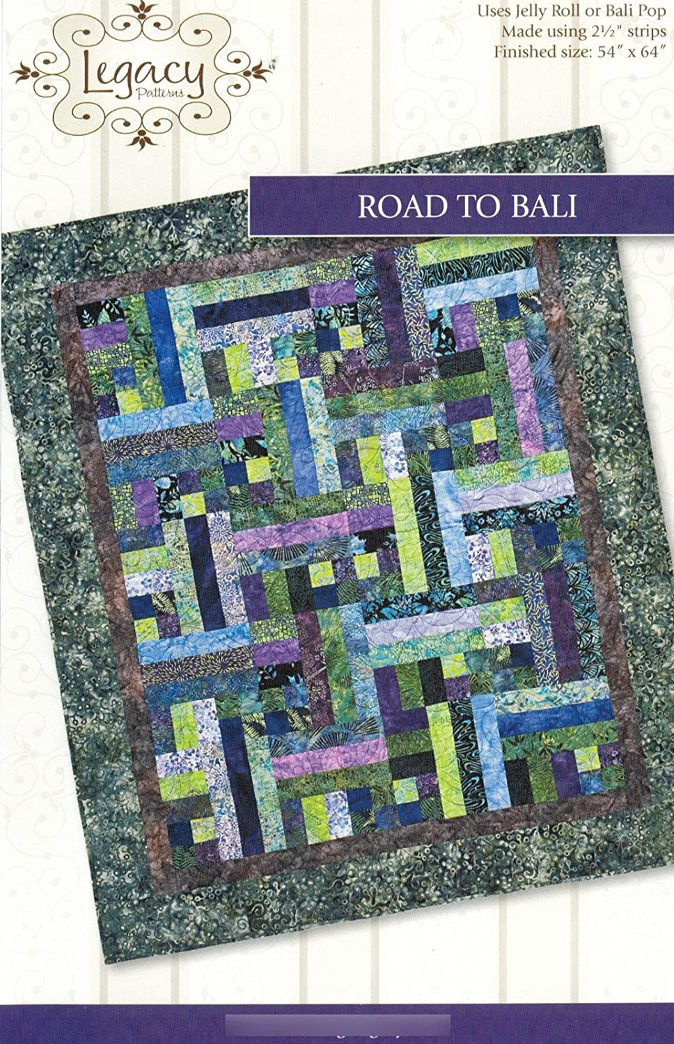 Amazon Com Road To Bali Quilt Pattern No Leg9301 By Legacy