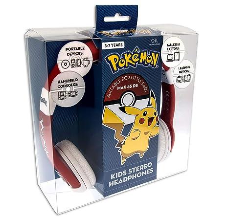 OTL Technologies Pokémon Pokeball Rojo, Color Blanco Supraaural Diadema Auricular: Amazon.es: Electrónica