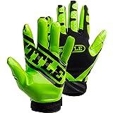 Battle Ultra-Stick Receiver Gloves, Youth Medium - Neon Green/Black