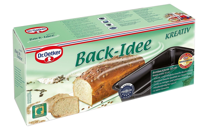 Dr. Oetker Brotbackform 30 cm Emaille, Kastenform für schmackhafte ...