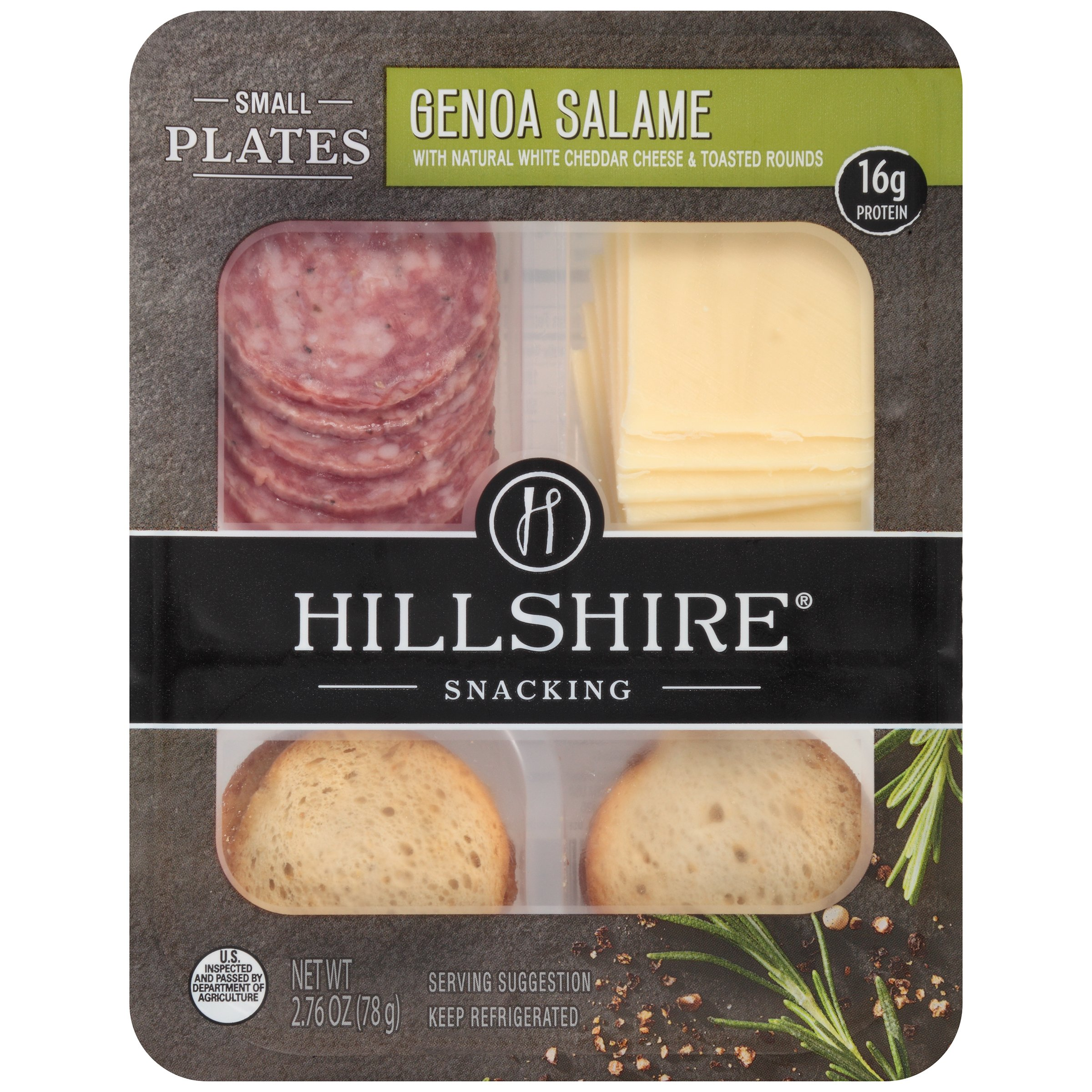 Hillshire Snacking Small Plates HSH Genoa Salame, 2.76 Ounce - 12 per case.