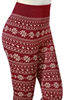 Stretchy One Size Trendy Graphic Print High Waist Fleece Legging Pant For Women