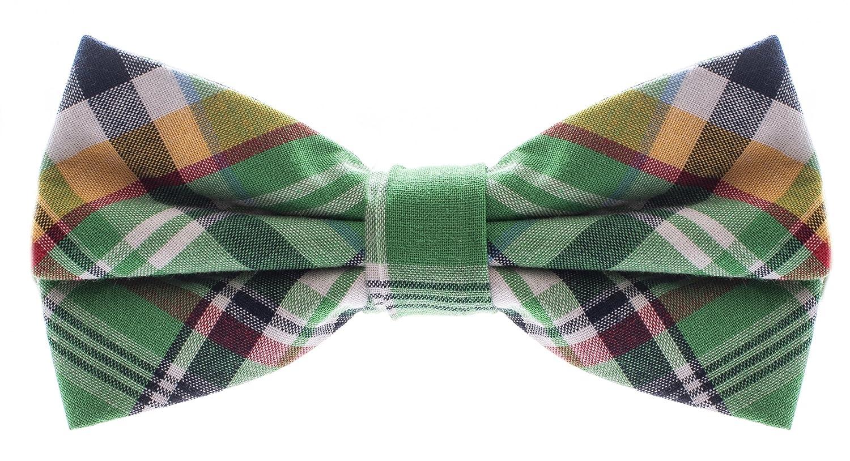 Bowtie Green Plaid
