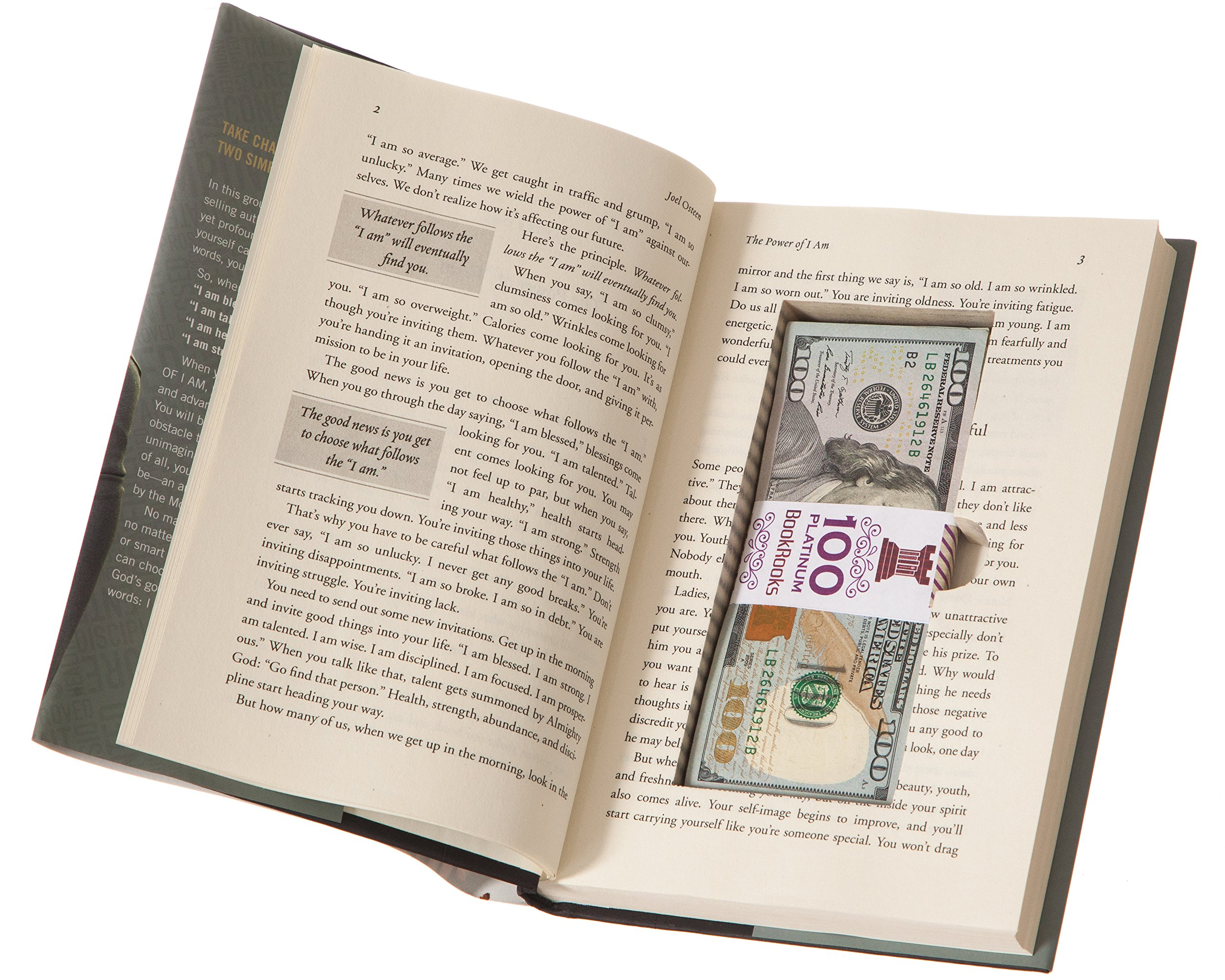 BookRooks Recycled Hollow Book Cash Box with Magnetic Closure