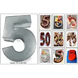 "2.5"" Deep 10"" X 8"" Small Number Seven Birthday Wedding Anniversary Cake Tin"