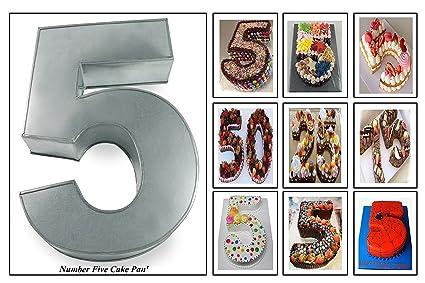 Euro Tins Molde para tarta, diseño de número 5, ideal para aniversario o cumpleaños