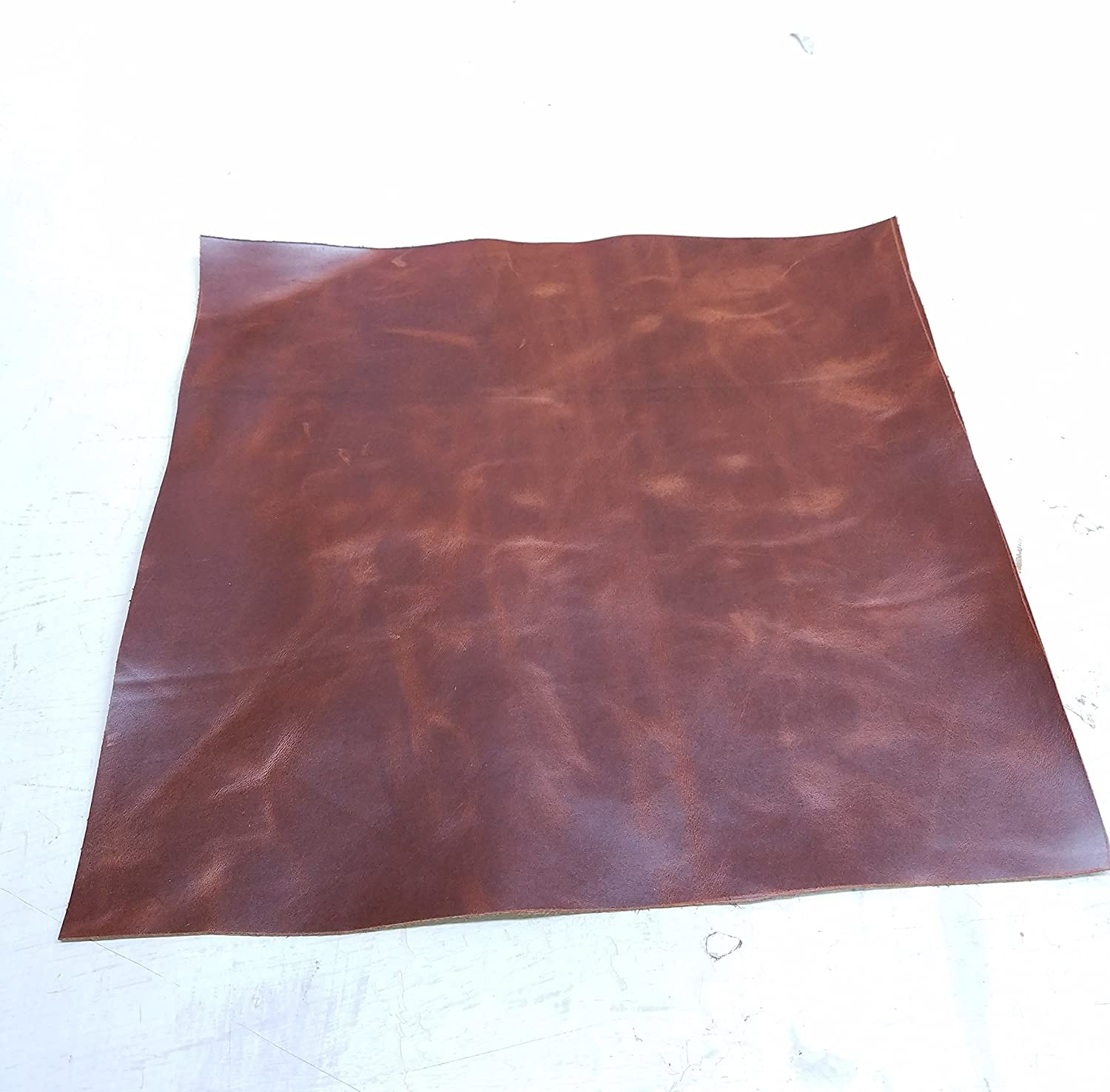 NAT Leathers Tan Brown Oil Pull-up 10 Square Feet Nappa Soft Upholstery Handbag Cowhide Genuine Cow Leather Hide Skin 7-10 Sq.ft