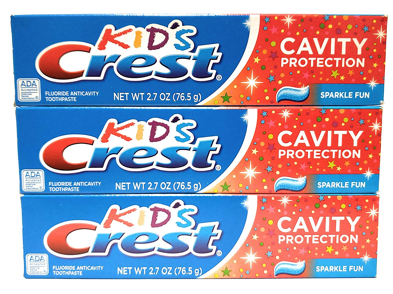 Crest Kid's Sparkle Fun Toothpaste Cavity Protection 2.7oz (3 Pack)