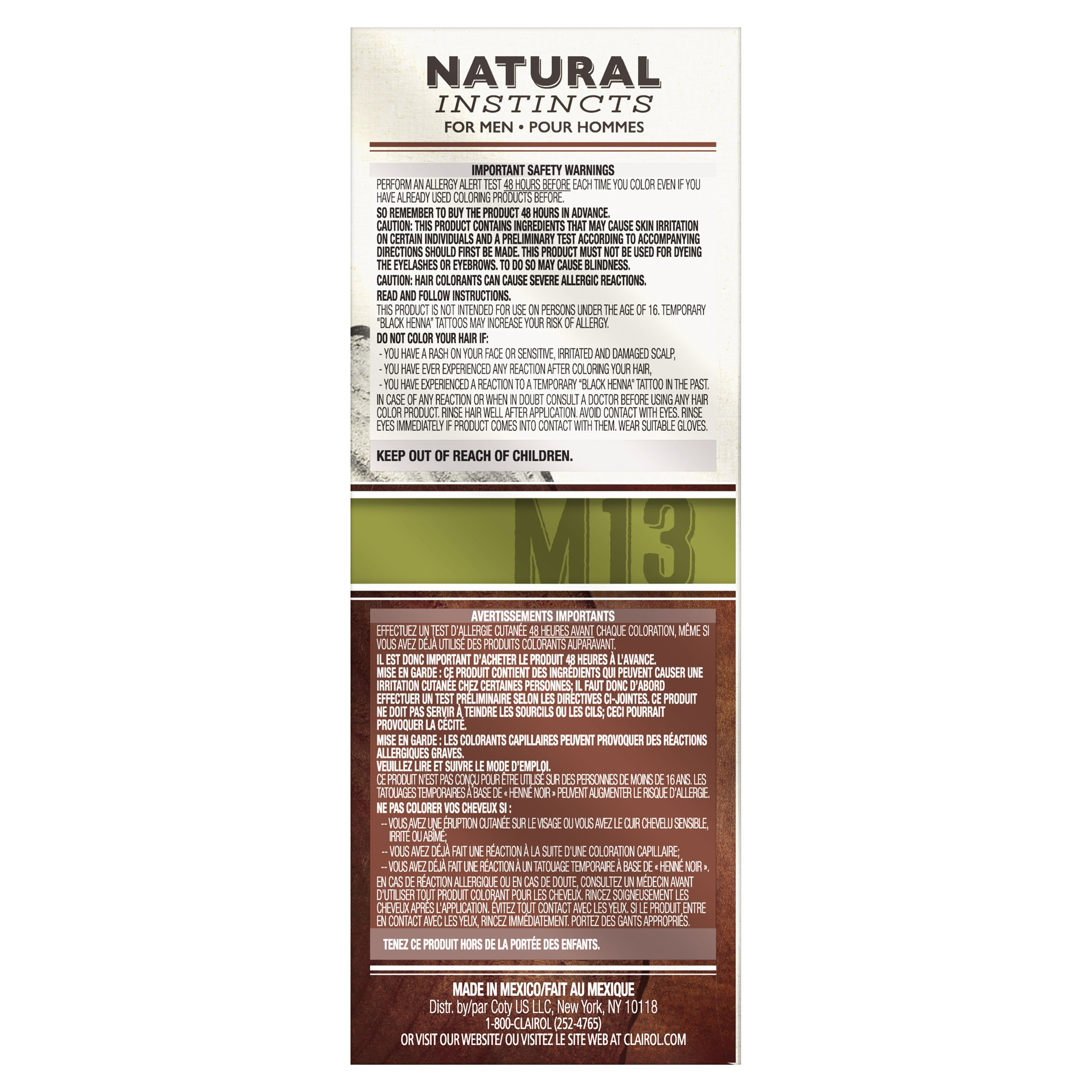 Clairol Natural Instincts Semi-Permanent Hair Color Kit For Men, 3 Pack, M13 Dark Brown Color, Ammonia Free, Long Lasting for 28 Shampoos by Clairol (Image #6)