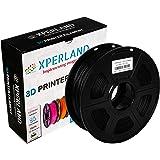 XPERLAND 3D Printer PLA Filament BLACK 1.75 mm, Dimensional Accuracy +/- 0.02 mm, 1KG (2.2lbs) Spool, For Most 3D Printers and 3D Pens - 1.75mm Black