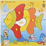 Skillofun Wooden Theme Puzzle Standard Fish Knobs, Multi Color